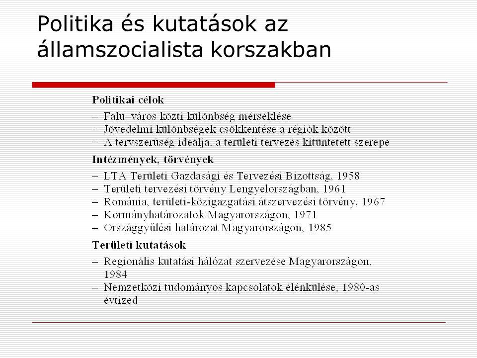 Politika és kutatások az államszocialista korszakban