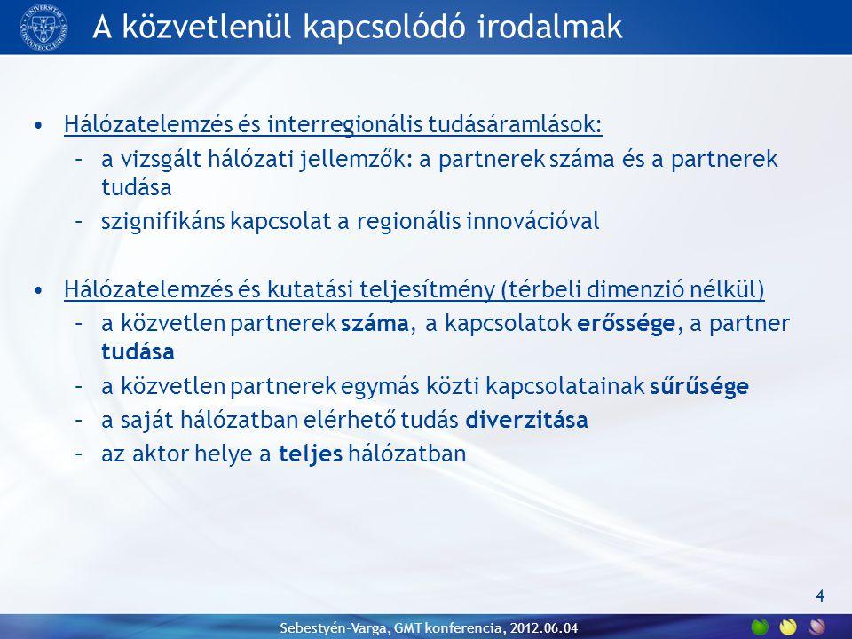Robosztusság - szabadalmak 15 Sebestyén-Varga, GMT konferencia, 2012.06.04