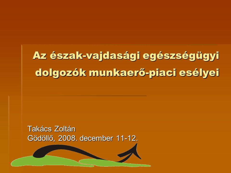 Az észak-vajdasági egészségügyi dolgozók munkaerő-piaci esélyei Takács Zoltán Gödöllő, 2008. december 11-12.