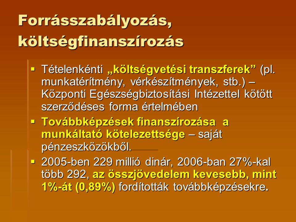 """Forrásszabályozás, költségfinanszírozás  Tételenkénti """"költségvetési transzferek"""" (pl. munkatérítmény, vérkészítmények, stb.) – Központi Egészségbizt"""
