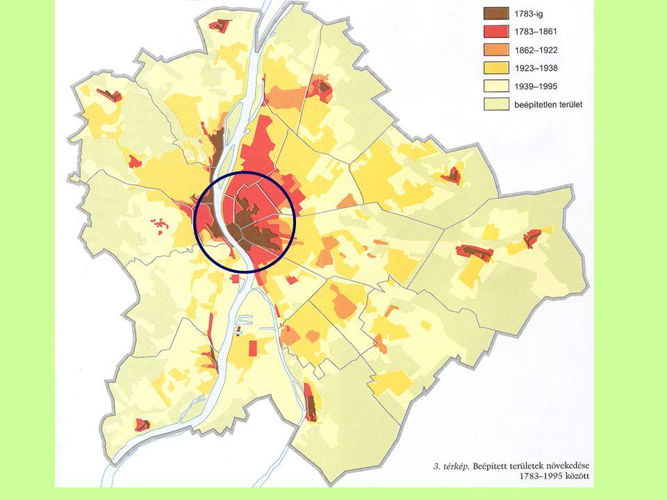 Lakásállomány átalakulása (2005) Jellemzői: Privatizáció Piacosítás (?) Polarizáció és szegregáció City – képződés (V.