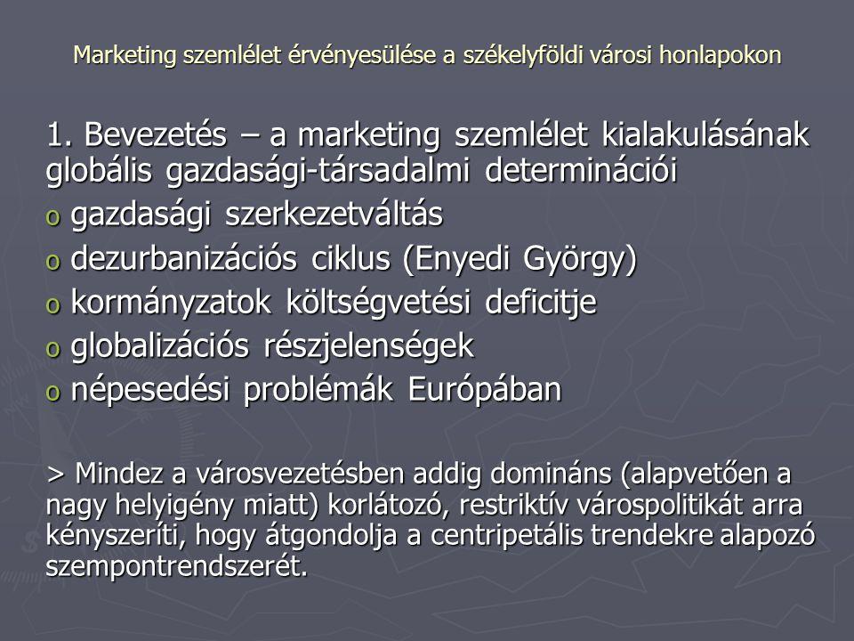 Marketing szemlélet érvényesülése a székelyföldi városi honlapokon 1.