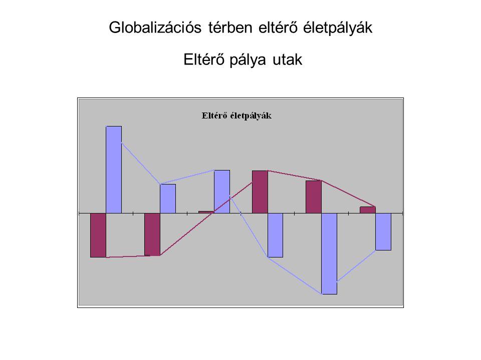 Globalizációs térben eltérő életpályák Eltérő pálya utak