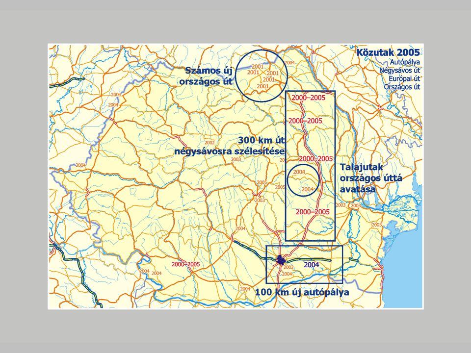 Tervezett autópályák és négysávos utak CNADNR-források: autópálya Bukarest környékén és majd Dél-Erdélyen keresztül www.andnet.ro Bechtel-források: autópálya Észak- Erdélyen keresztül www.autostradatransilvania.ro