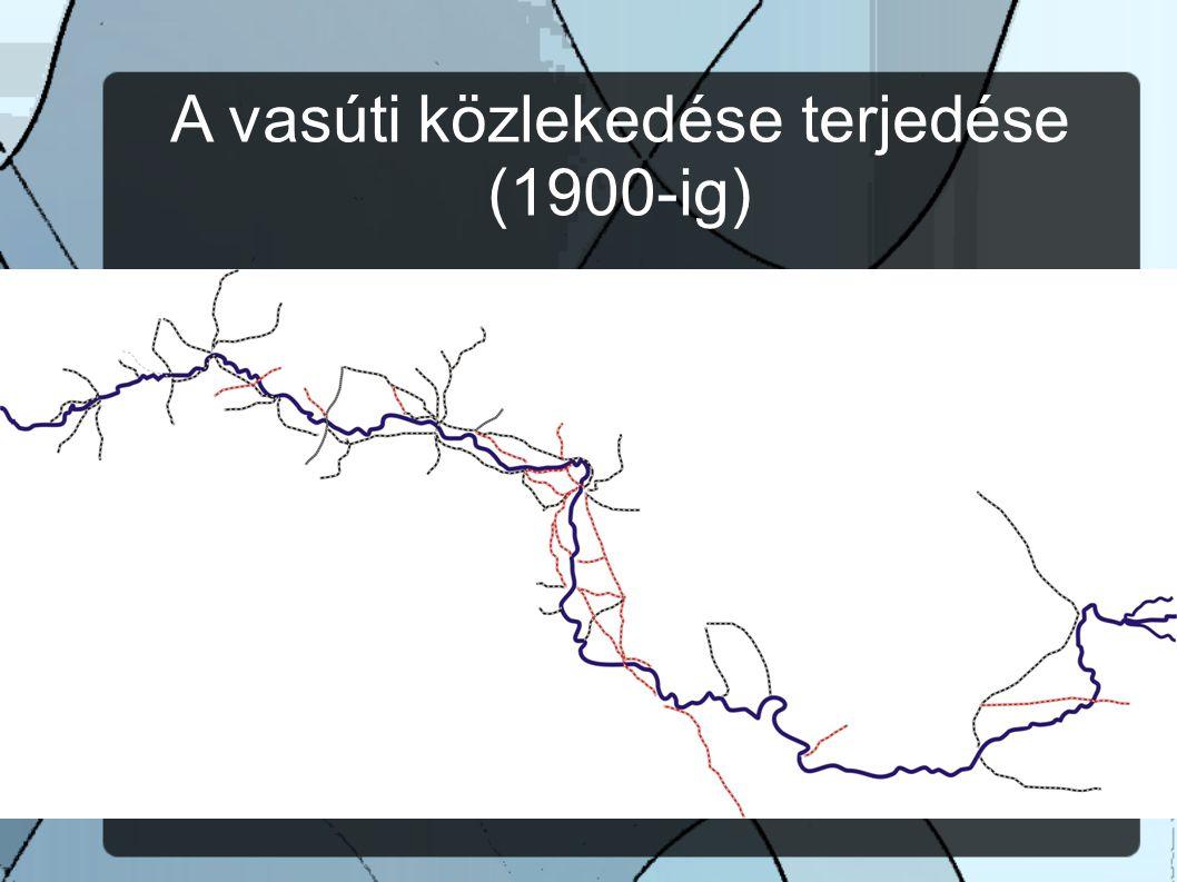 A vasúti közlekedése terjedése (1900-ig)