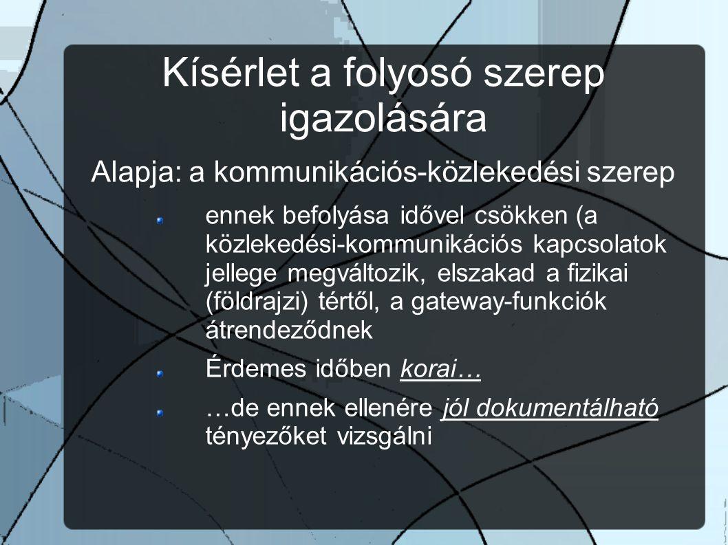 A kapcsolatok aránylag könnyen feltárhatóak… Tetvérvárosok a Duna mentén (Kovács P., 2010.