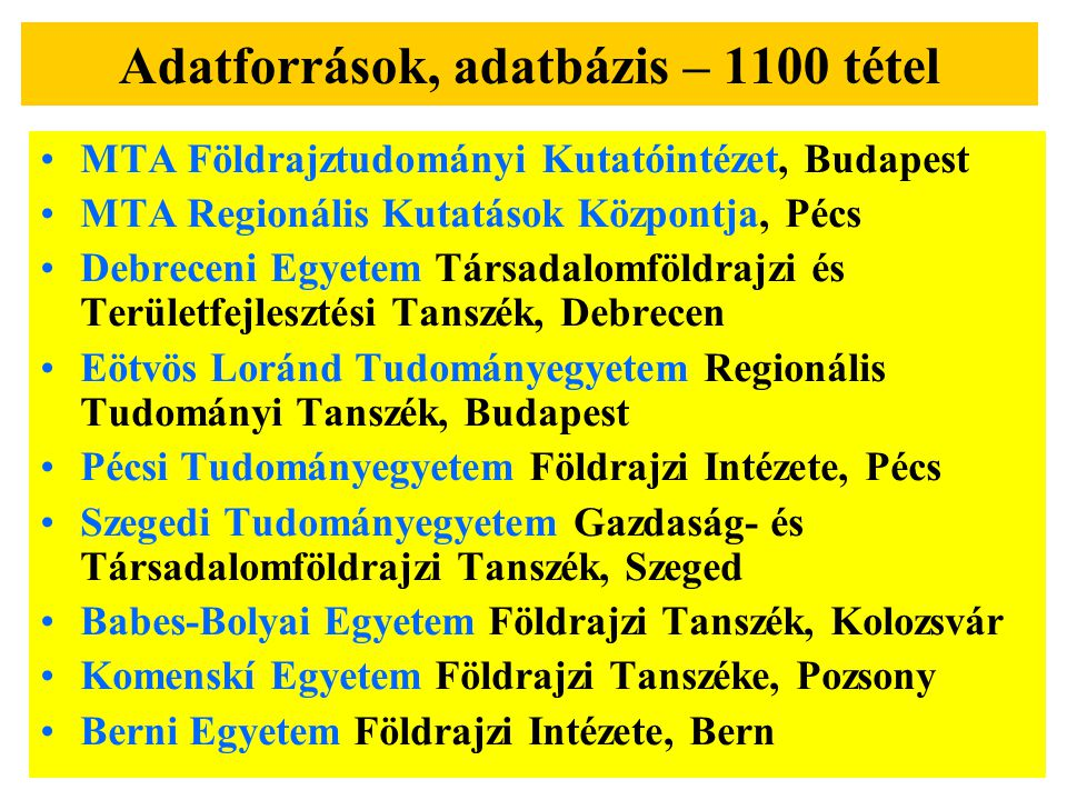 A határmentiség kutatásának tematikai felosztása 1.