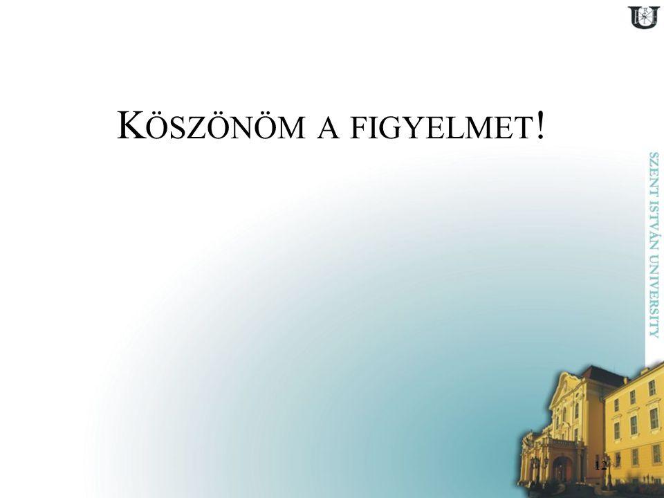 K ÖSZÖNÖM A FIGYELMET ! 12