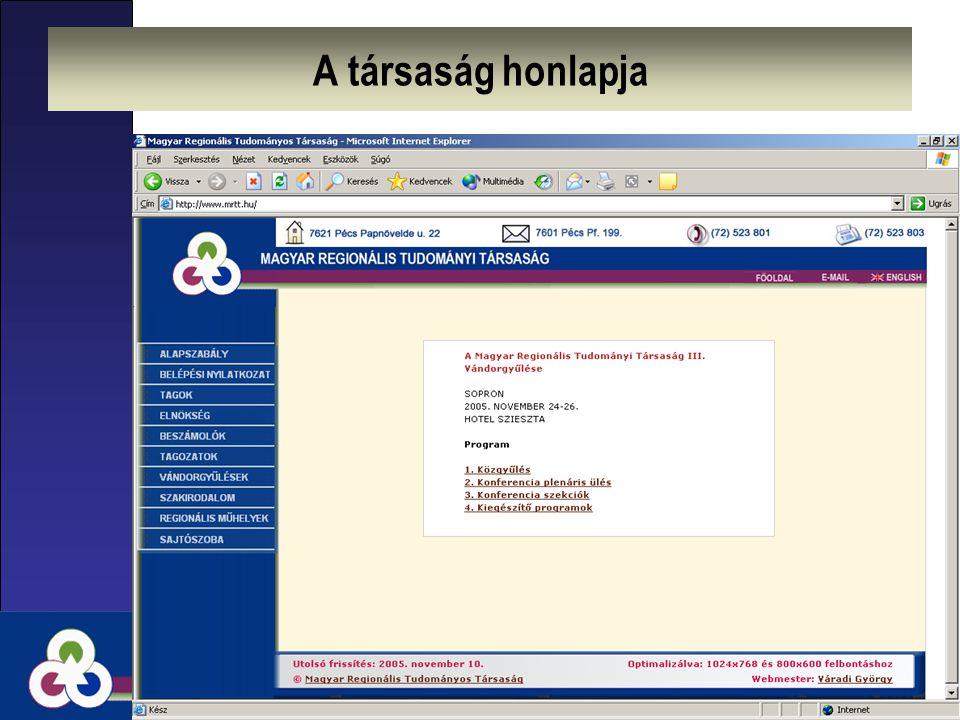 A társaság honlapja