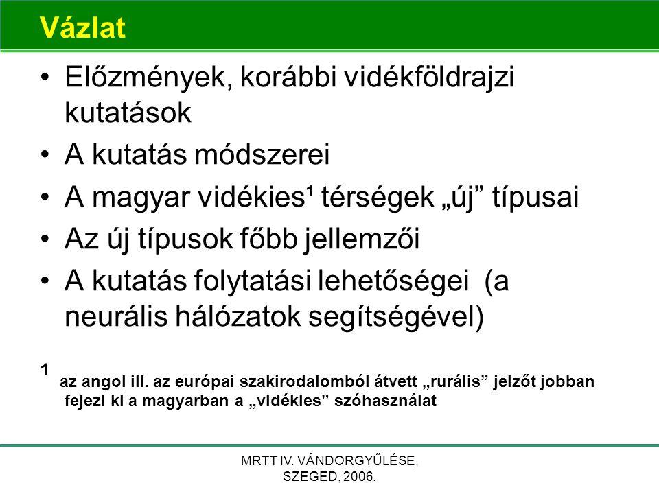 """MRTT IV. VÁNDORGYŰLÉSE, SZEGED, 2006. A """"beépített környezet összefüggései"""
