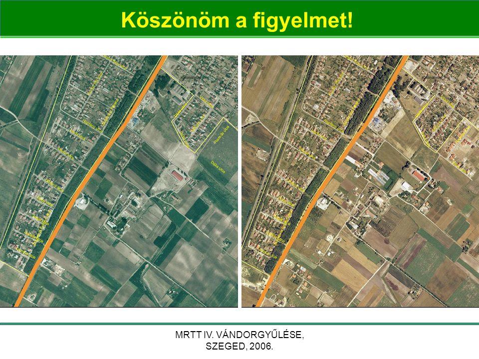 MRTT IV. VÁNDORGYŰLÉSE, SZEGED, 2006. Köszönöm a figyelmet!
