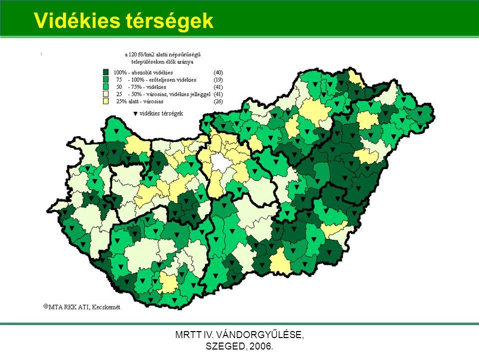 MRTT IV. VÁNDORGYŰLÉSE, SZEGED, 2006. Vidékies térségek