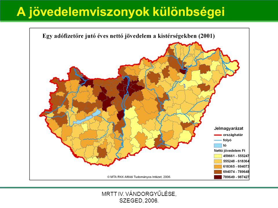 MRTT IV. VÁNDORGYŰLÉSE, SZEGED, 2006. A jövedelemviszonyok különbségei