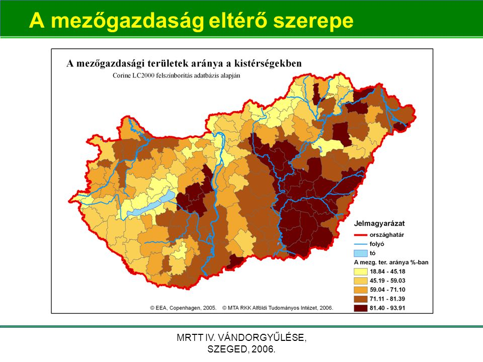 MRTT IV. VÁNDORGYŰLÉSE, SZEGED, 2006. A mezőgazdaság eltérő szerepe