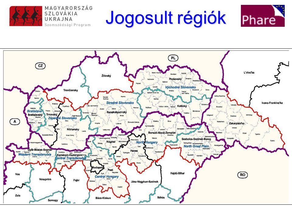 Jogosult régiók Jogosult régiók