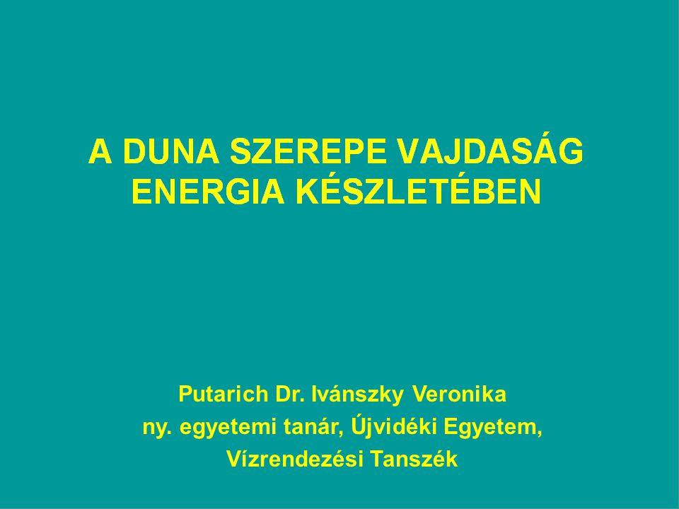 Putarich Dr. Ivánszky Veronika ny. egyetemi tanár, Újvidéki Egyetem, Vízrendezési Tanszék