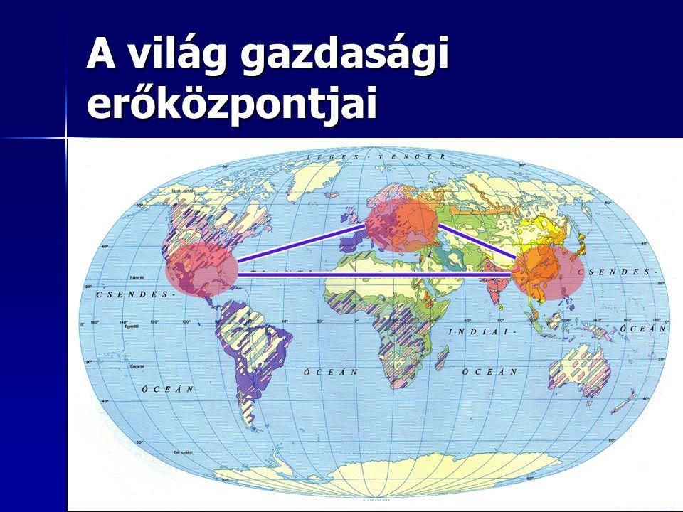 A világ gazdasági erőközpontjai