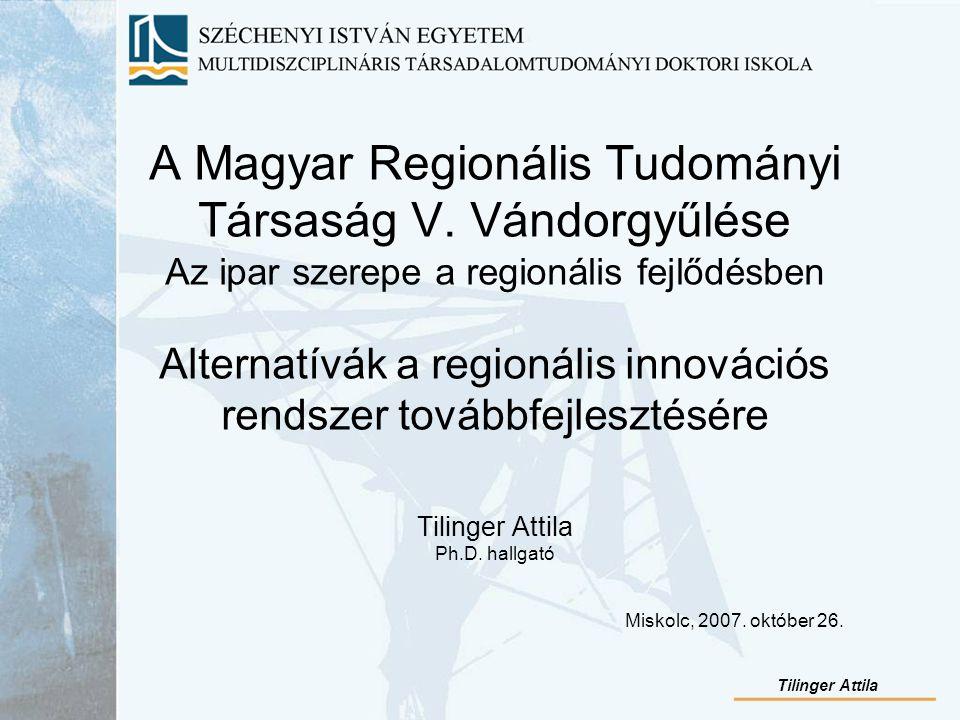 A Magyar Regionális Tudományi Társaság V.