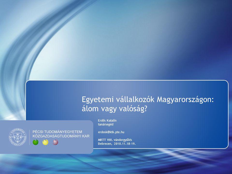 Egyetemi vállalkozók Magyarországon: álom vagy valóság.