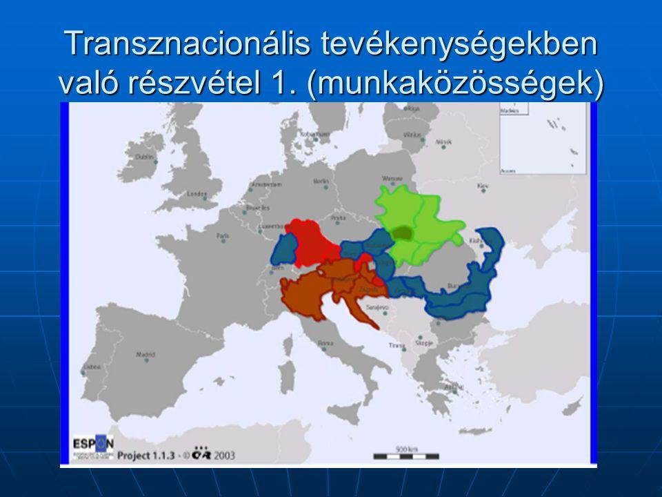Transznacionális tevékenységekben való részvétel 1. (munkaközösségek)