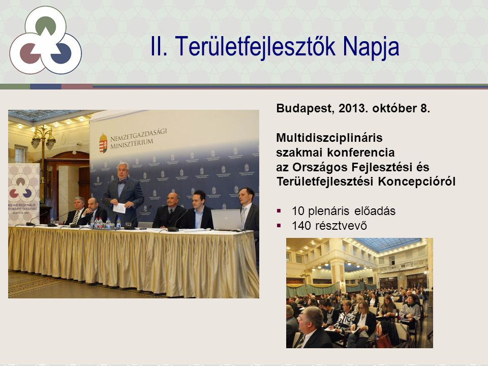 II.Területfejlesztők Napja Budapest, 2013. október 8.