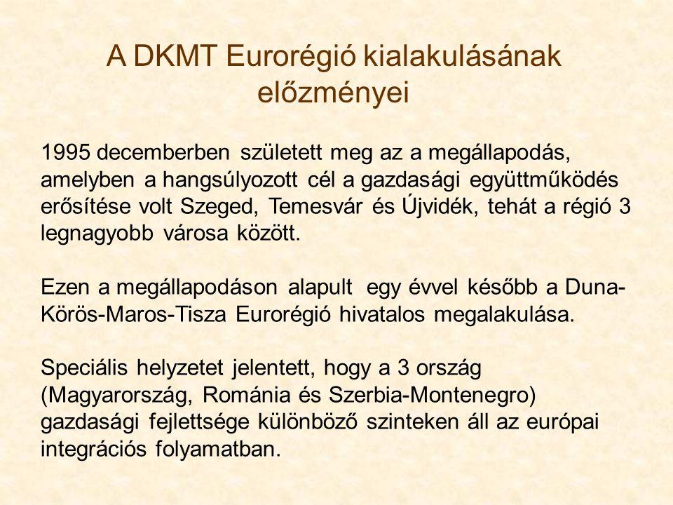 1995 decemberben született meg az a megállapodás, amelyben a hangsúlyozott cél a gazdasági együttműködés erősítése volt Szeged, Temesvár és Újvidék, t