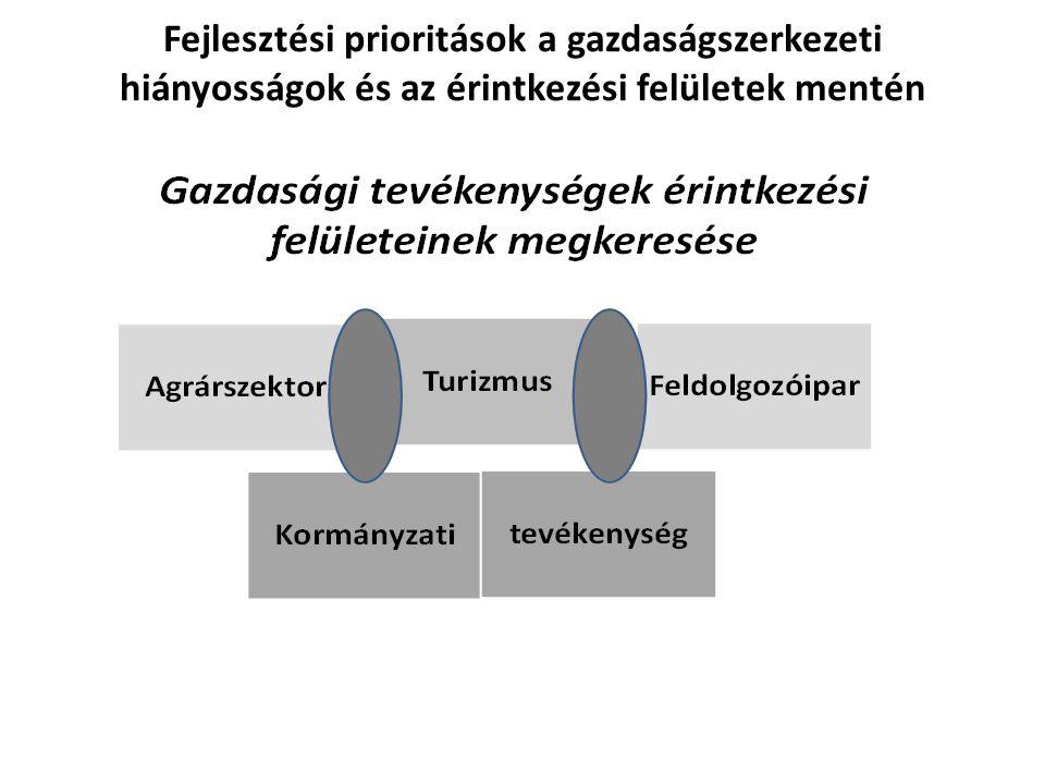 Fejlesztési prioritások a gazdaságszerkezeti hiányosságok és az érintkezési felületek mentén