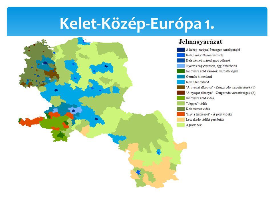 Kelet-Közép-Európa 1. Jelmagyarázat