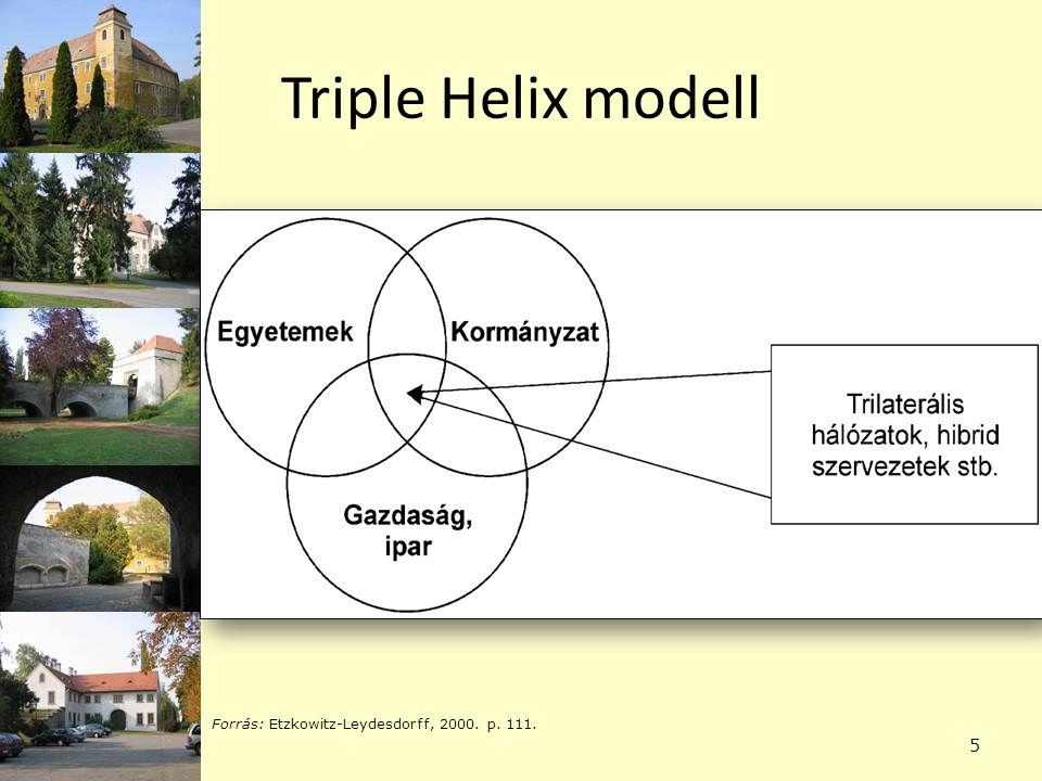 Triple Helix modell 5 Forrás: Etzkowitz-Leydesdorff, 2000. p. 111.