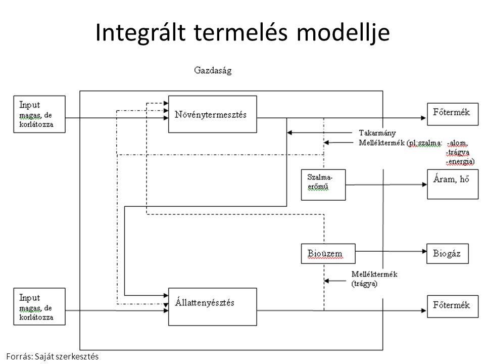 Integrált termelés modellje Forrás: Saját szerkesztés