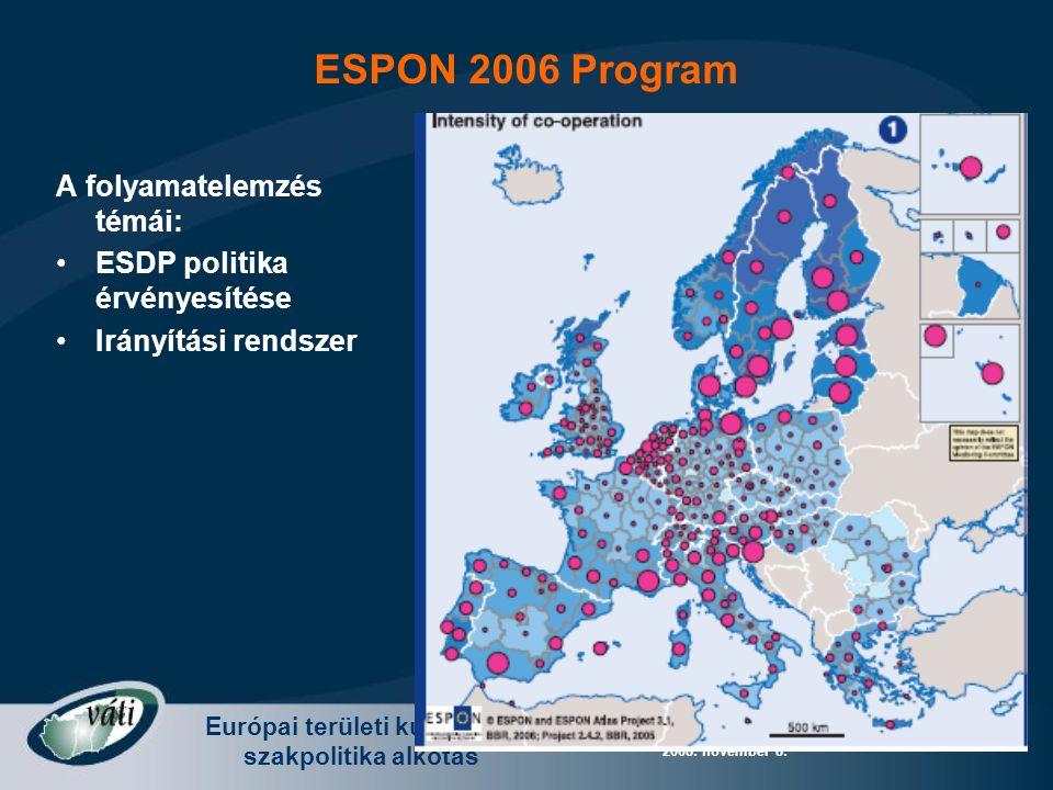 Európai területi kutatás és szakpolitika alkotás Radvánszki Ádám - Európa változó terei 2008. november 8. A folyamatelemzés témái: ESDP politika érvén