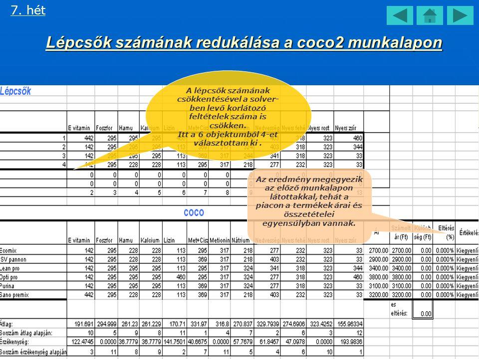 COCO tábla kiértékelése II. 7.