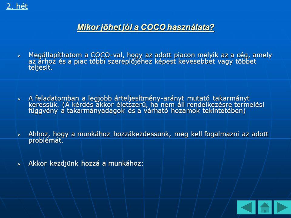 Mikor jöhet jól a COCO használata.