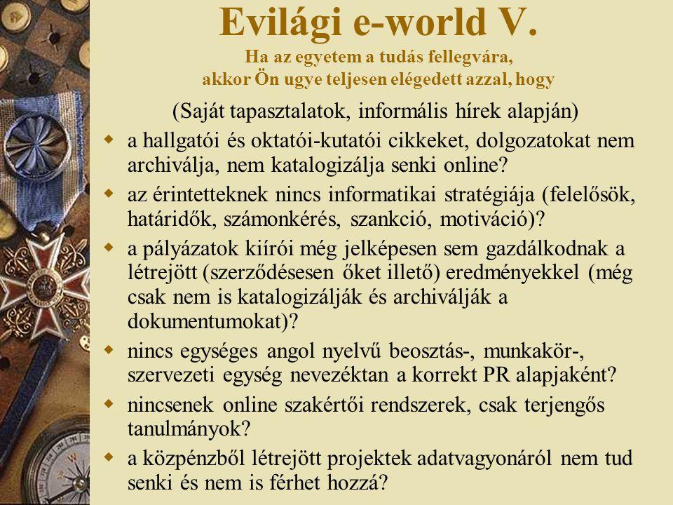 Evilági e-world V.