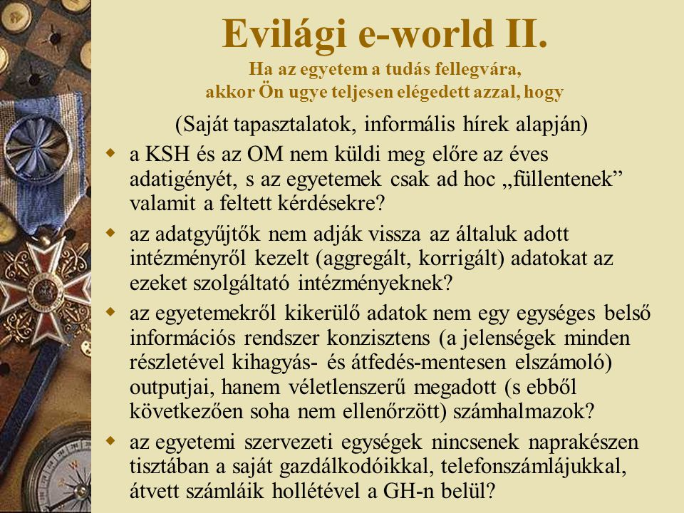 Evilági e-world III.