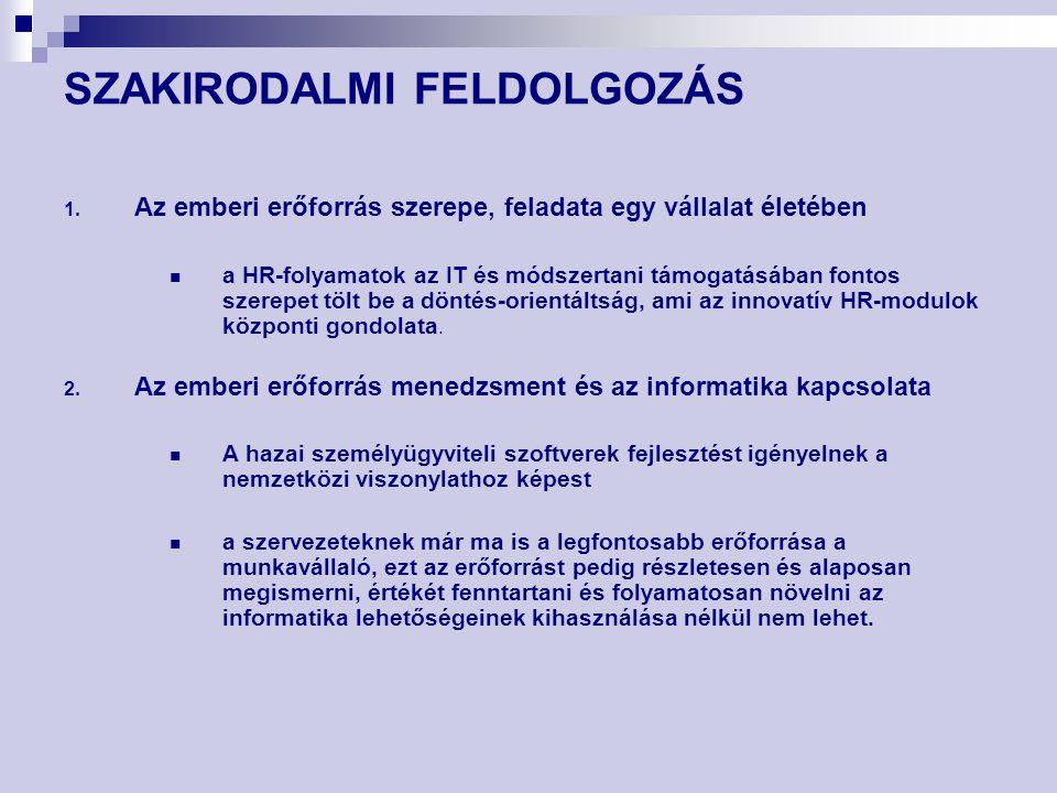 SZAKIRODALMI FELDOLGOZÁS 1.