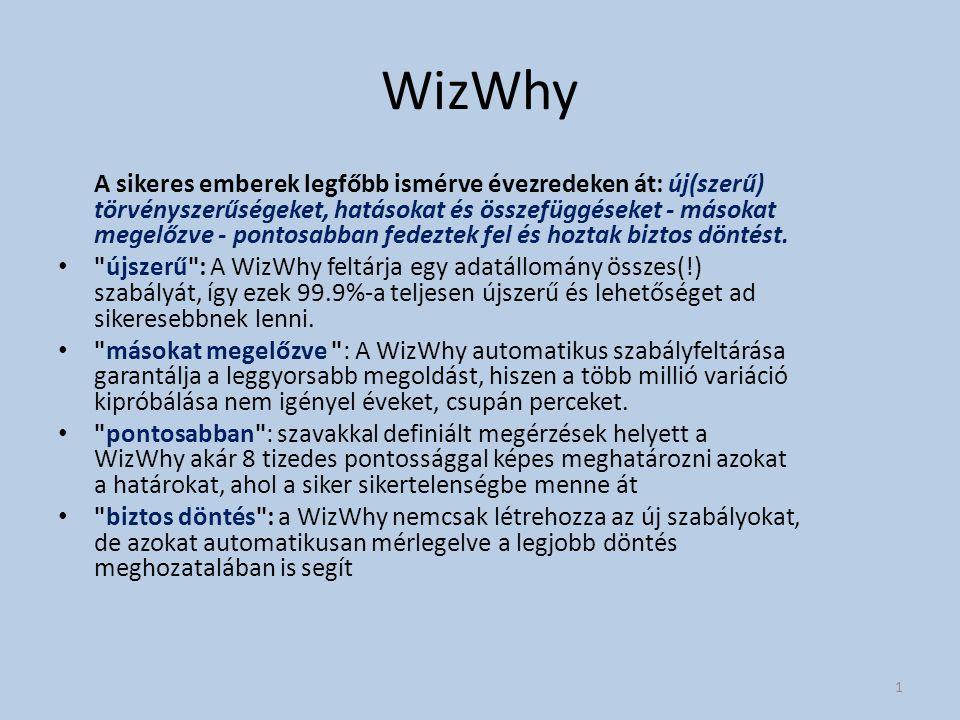 WizWhy A sikeres emberek legfőbb ismérve évezredeken át: új(szerű) törvényszerűségeket, hatásokat és összefüggéseket - másokat megelőzve - pontosabban fedeztek fel és hoztak biztos döntést.