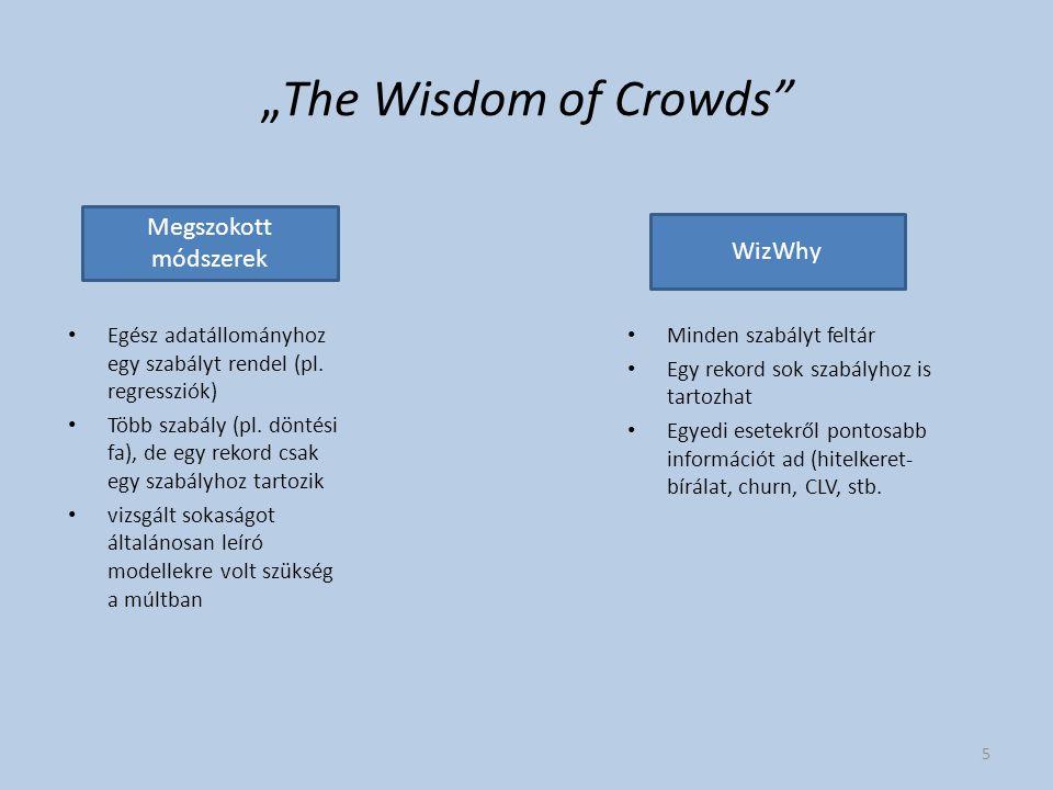 """""""The Wisdom of Crowds Egész adatállományhoz egy szabályt rendel (pl."""