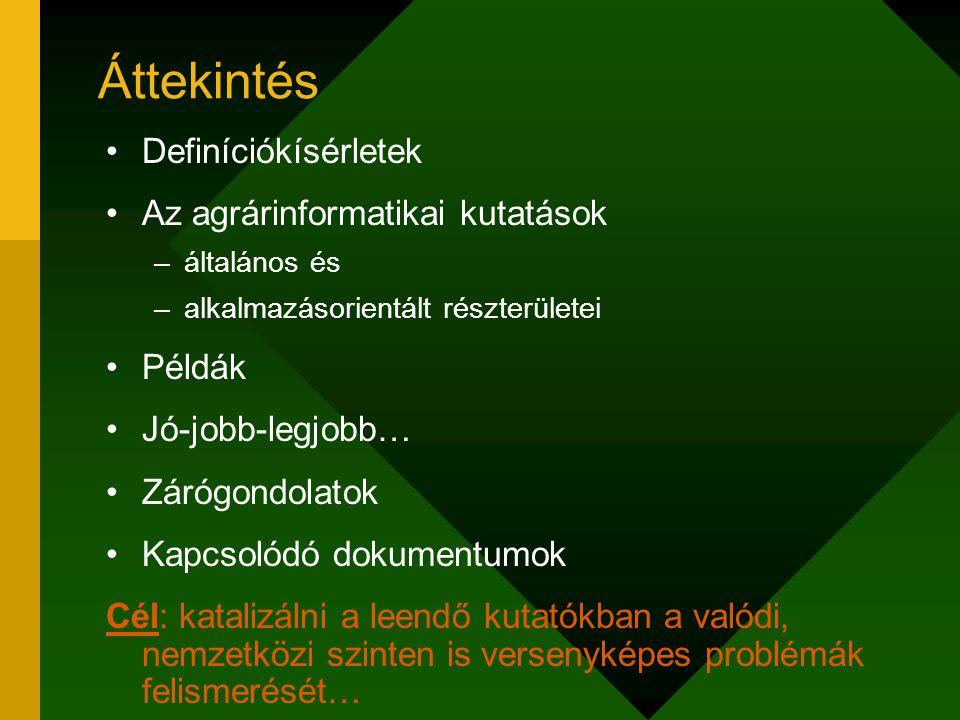Definíciókísérletek I.