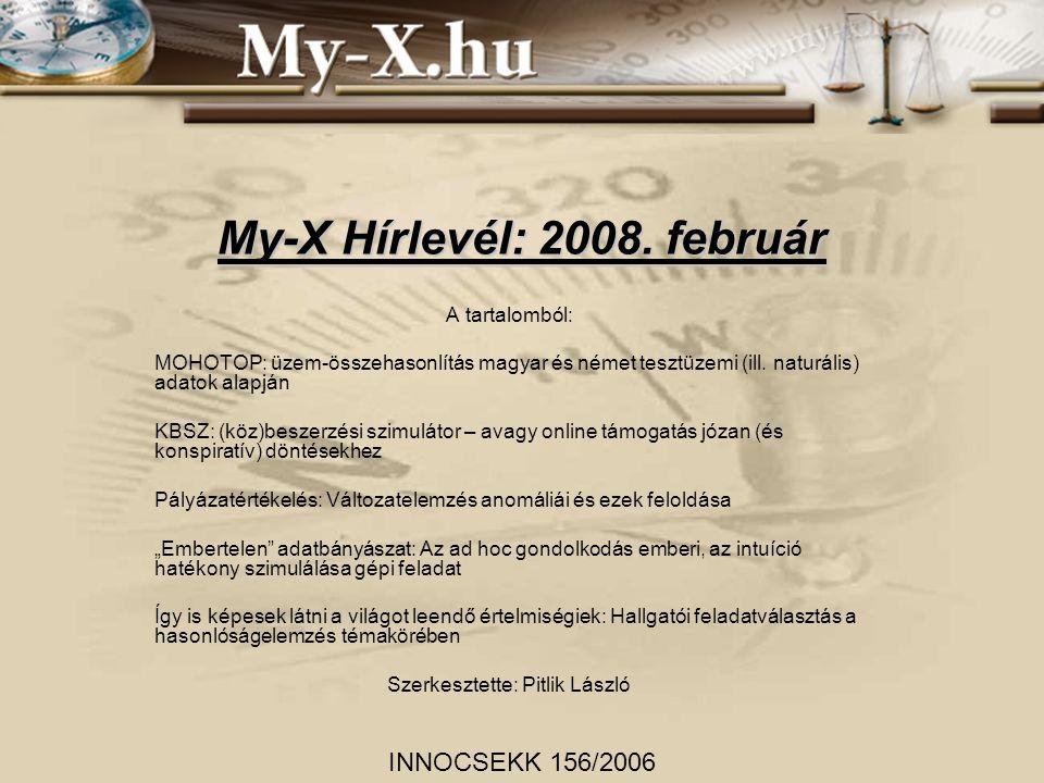 My-X Hírlevél: 2008.