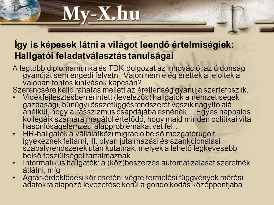 INNOCSEKK 156/2006 További részletek: pitlik@miau.gau.hu