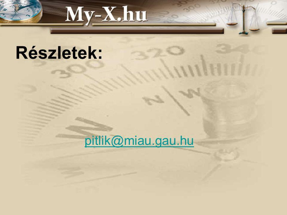 INNOCSEKK 156/2006 Részletek: pitlik@miau.gau.hu