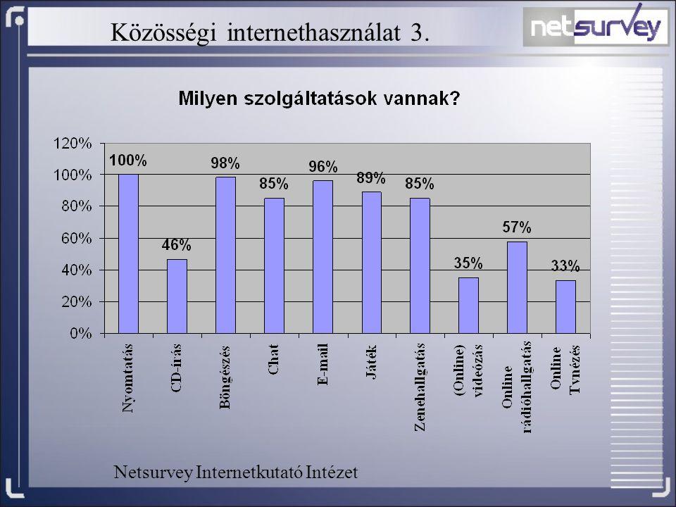 Közösségi internethasználat 3. Netsurvey Internetkutató Intézet