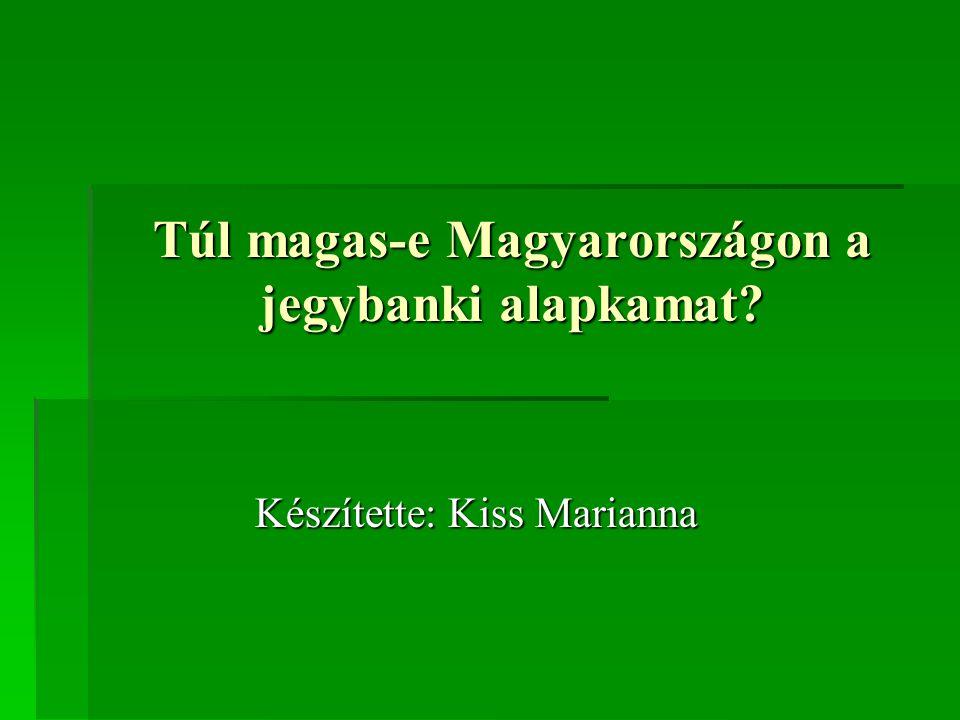 Túl magas-e Magyarországon a jegybanki alapkamat Készítette: Kiss Marianna