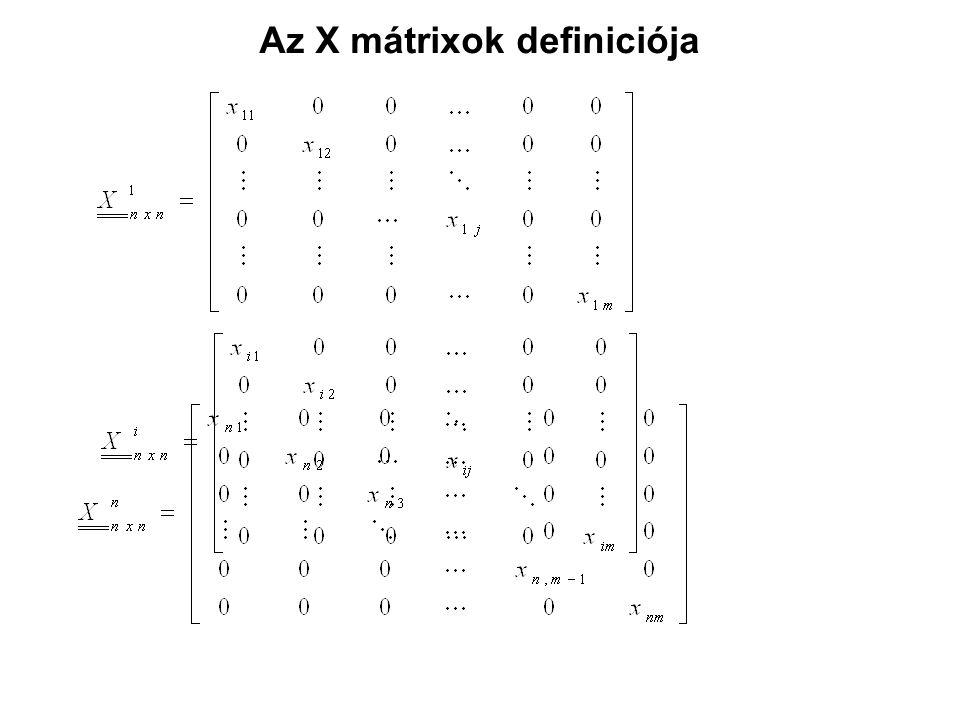 Az X mátrixok definiciója
