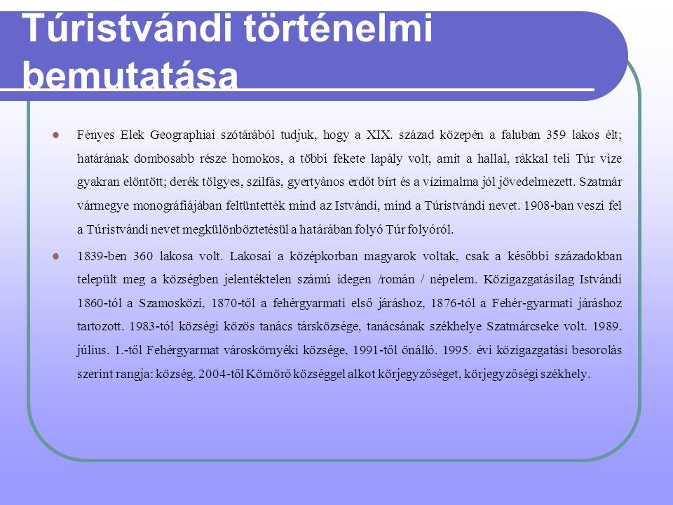 Túristvándi történelmi bemutatása Fényes Elek Geographiai szótárából tudjuk, hogy a XIX.