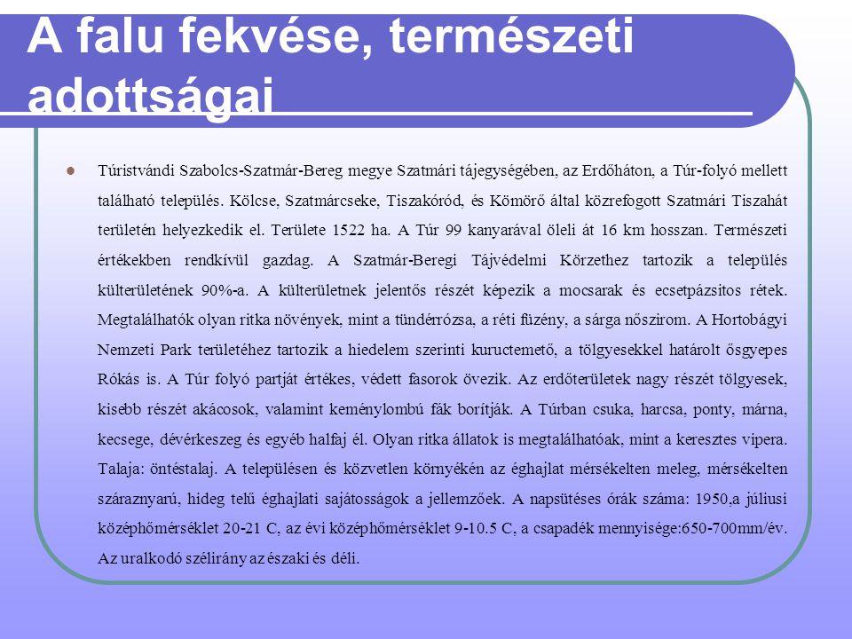 A Szatmár-Beregi Szilvaút Forrás:Saját készítés