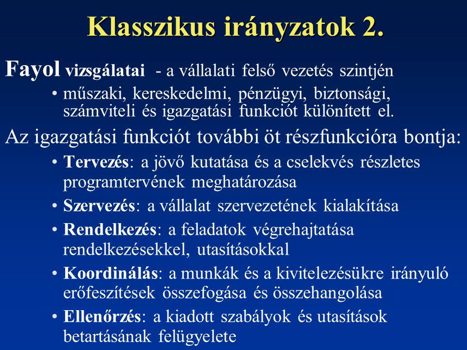 Klasszikus irányzatok 2.