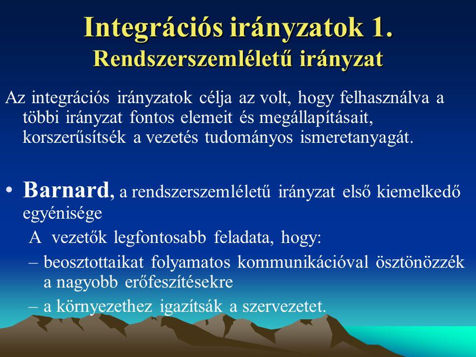 Integrációs irányzatok 1.