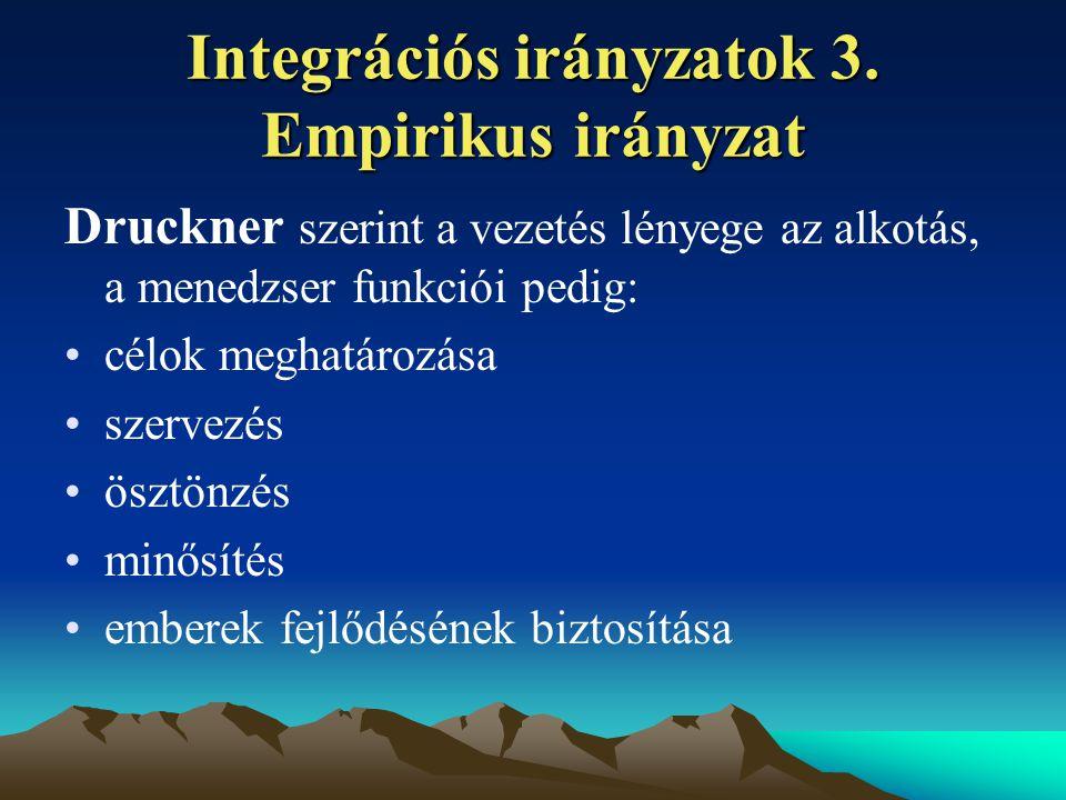 Integrációs irányzatok 3.
